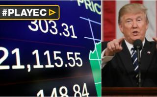 Dow Jones Industrial logra nuevo récord tras discurso de Trump