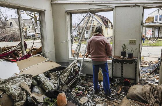 EE.UU.: Un sistema de tornados afectó principalmente a Illinois