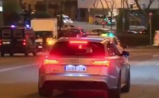 Cristiano Ronaldo se pasó luz roja frente a policías [VIDEO]