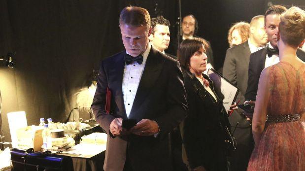 Brian Cullinan estuvo distraído tuiteando en la gala de los Oscar. (Foto: AP)