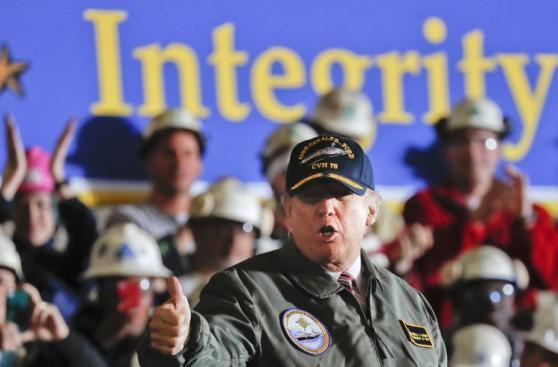 Trump: Si Estados Unidos va a una guerra lo hará