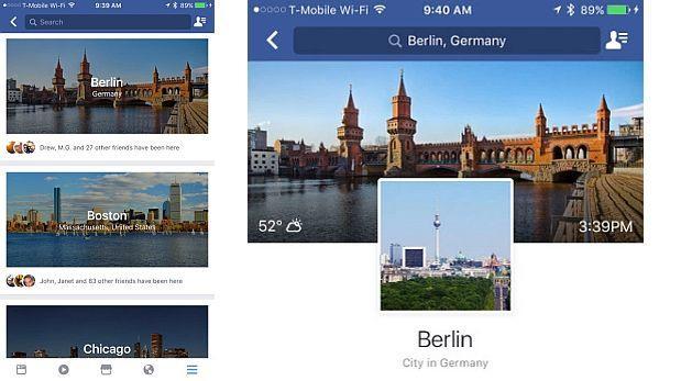 Facebook agregó la función 'City Guides' para planificar viajes