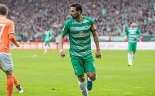 Con Pizarro: Werder Bremen venció 2-0 a Darmstadt en Bundesliga