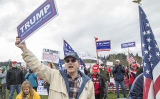 Donald Trump recibe apoyo de simpatizantes en diversas ciudades