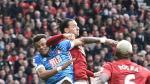 United: Ibrahimovic reaccionó a fuerte pisotón con este codazo - Noticias de zlatan ibrahimovic