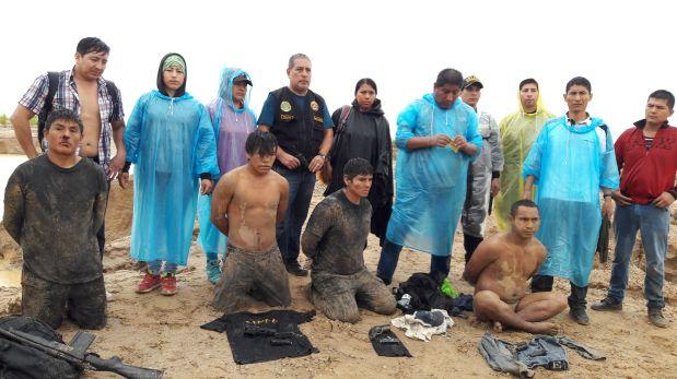 El 25 de febrero fueron capturados cuatro integrantes de Los Sanguinarios de la Trocha, luego de una balacera. (Foto: PNP).