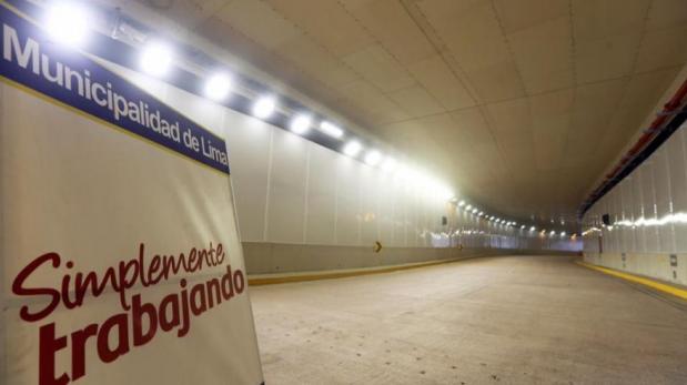 Inauguran túnel Benavides, el más grande de Lima