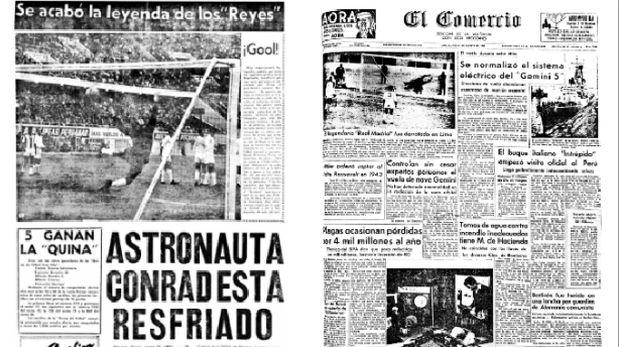 El Comercio cubrió el partido del Real Madrid ante un combinado peruano en 1965. (Foto: Archivo El Comercio)