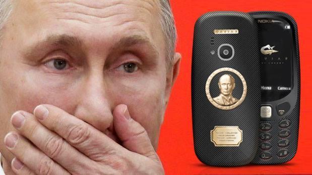 Conoce el lujoso Nokia 3310 ruso inspirado en Vladimir Putin