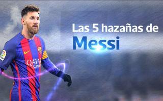 Las cinco hazañas en la carrera de Lionel Messi con Barcelona
