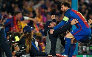 Lionel Messi y un desaforado festejo como nunca antes lo hizo