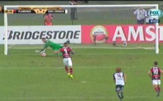 Paolo Guerrero falló penal para Flamengo en Copa Libertadores