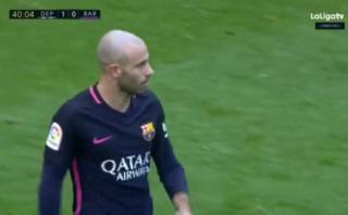 Barcelona: Deportivo La Coruña anotó tras error de Mascherano