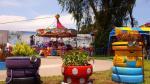 La Molina: convierten llantas usadas en maceteros gigantes - Noticias de minions