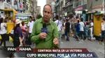 La Victoria: cobran cupos a ambulantes por vender en Gamarra - Noticias de mario soto