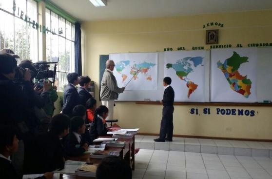 PPK dictó clase de geografía a niños en Junín [FOTOS Y VIDEO]