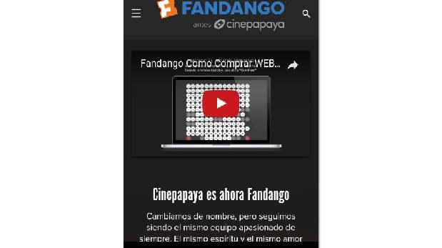 La startup Cinepapaya pasa a llamarse Fandango