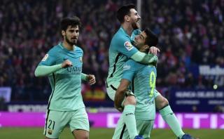 Barcelona venció 2-1 al Atlético y lidera la Liga Santander