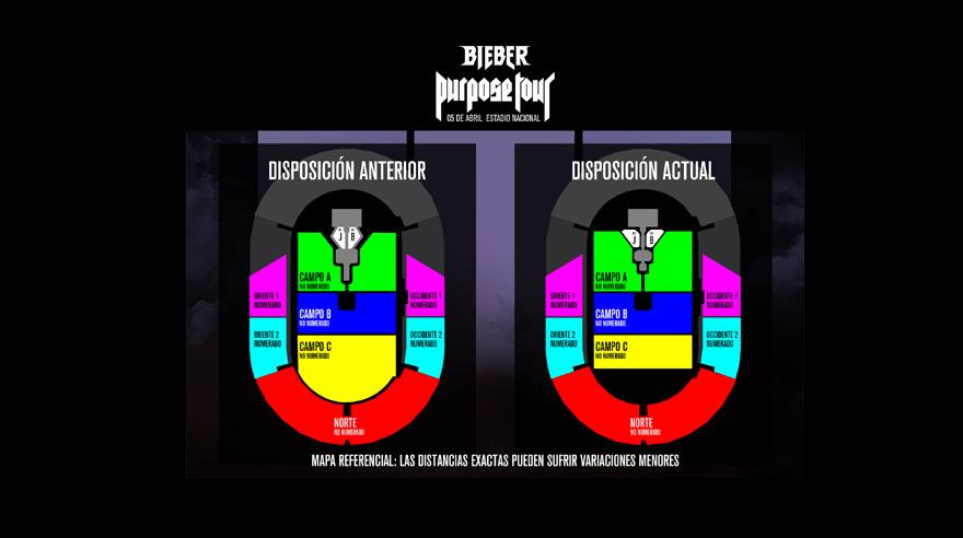Nuevas distribuciones para el show de Justin Bieber en América Latina. (Foto: Difusión/ ABC Comunicaciones)