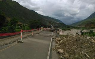 Cajamarca: lluvias complican rehabilitación de carretera
