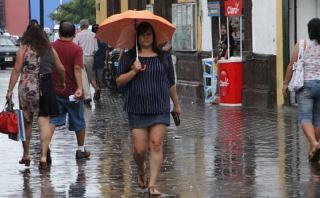 La Libertad: Trujillo sufre lluvia de regular intensidad