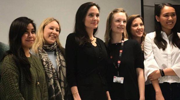 Angelina Jolie dictó clase en London School of Economics