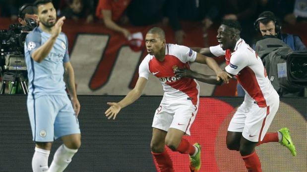 Mónaco remonta 3-1 al City y continúa en la Champions League