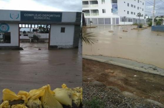 Huaico llega a Punta Hermosa e inunda complejo deportivo