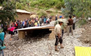 Huancavelica: caudal del río Huaytará daña vía hacia Ayacucho