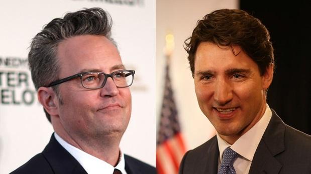 Mathew Perry golpeó al primer ministro de Canadá Justin Trudeau