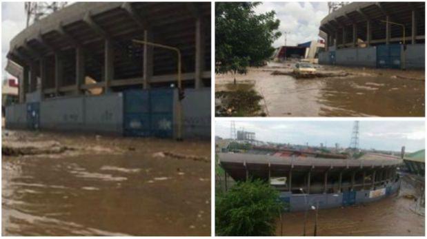 Fútbol peruano: exteriores del estadio Mansiche lucen inundados