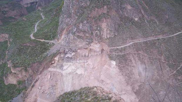 La carretera que conduce a Pampamarca, en La Unión. (Foto: Cortesía)
