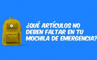 Huaicos: ¿Qué debes tener en una mochila de emergencia? [VIDEO]