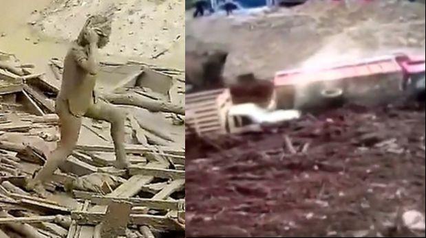 Huaicos en el Perú: Los videos que han dado la vuelta al mundo. (Foto: Captura)
