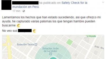 Facebook: Safety Check fue usado para hacer bromas de mal gusto