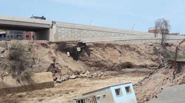 Río Rímac: puente Dueñas en serio riesgo por peligrosa crecida