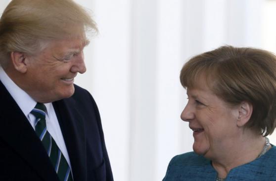 Donald Trump y Angela Merkel, juntos en la Casa Blanca