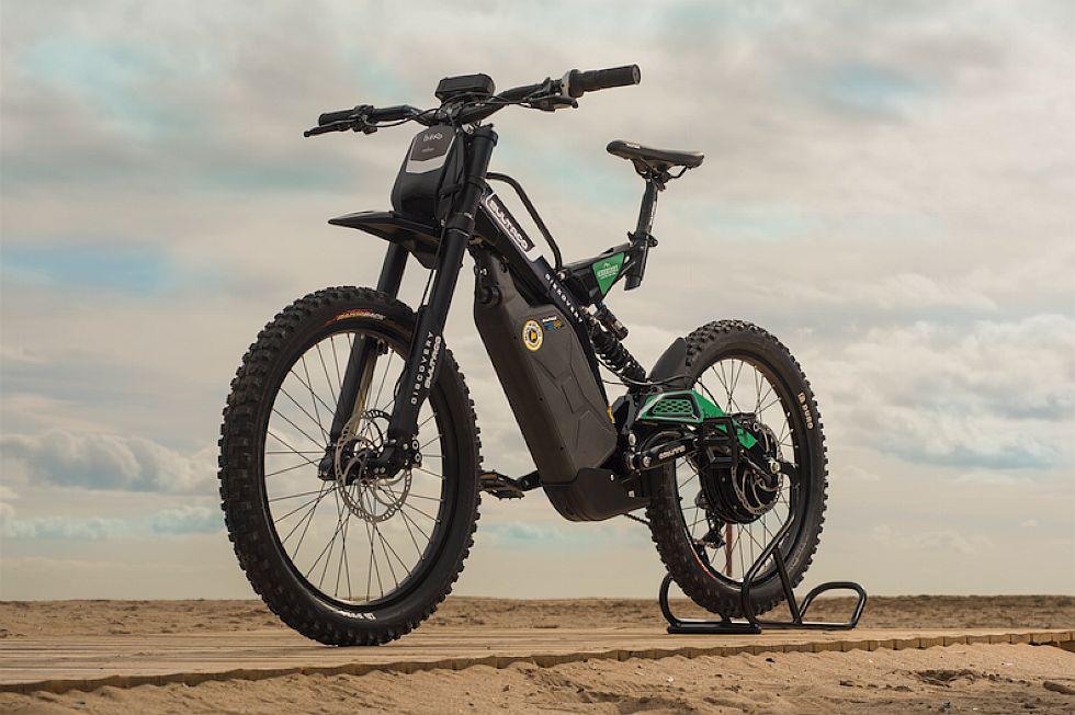 La bicimoto de Land Rover y Bultaco tendrá una transmisión de nueve velocidades. (foto: Bultaco)