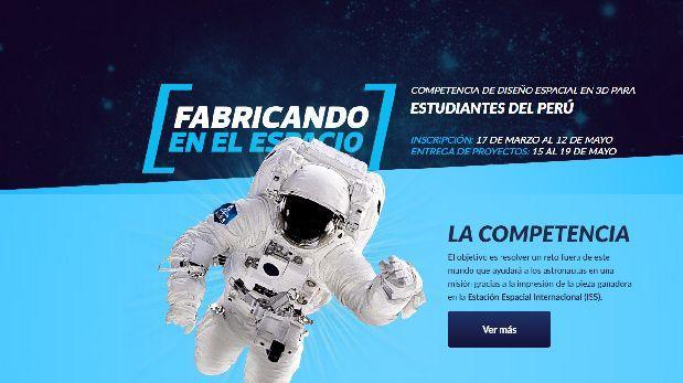 El Comercio lanza concurso para crear modelo 3D en el espacio