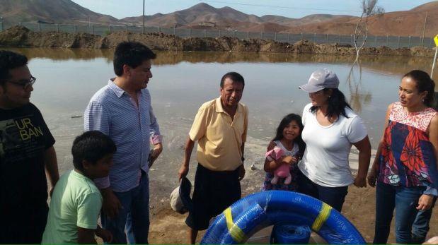 Fujimori reapareció en Pucusana con congresistas de su partido