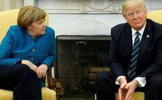 ¿Trump le negó apretón de manos a Merkel? [VIDEO]