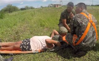 """Embarazada rescatada: """"No podíamos salir, el río tapó todo"""""""