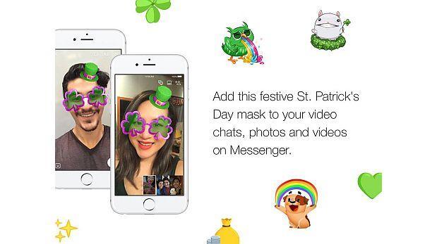 Facebook Messenger 'regala' lentes de trébol por San Patricio
