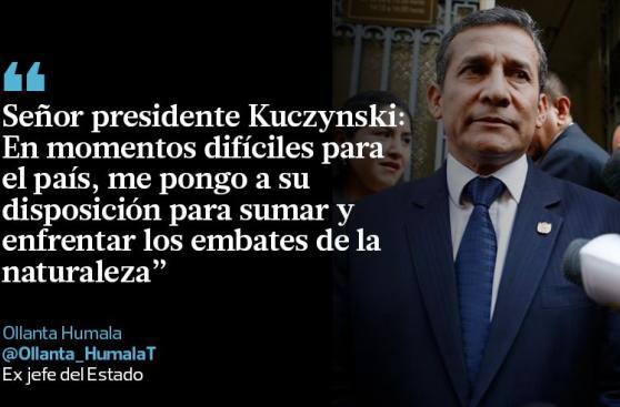 Emergencia en el Perú fue el tema central de los tuits del día