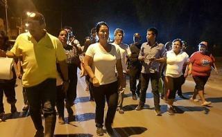 Keiko Fujimori entregó ayuda a damnificados en Puente Piedra