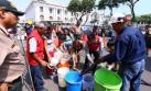 Congreso fue punto de repartición gratuita de agua potable