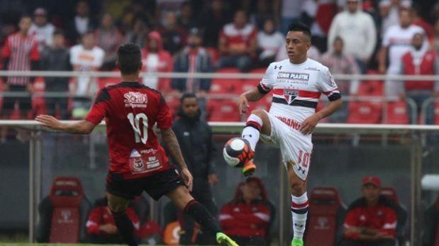 Con gol de Christian Cueva: Sao Paulo igualó 1-1 ante Ituano