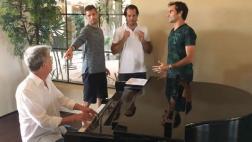 Roger Federer y Novak Djokovic sorprenden con gran talento