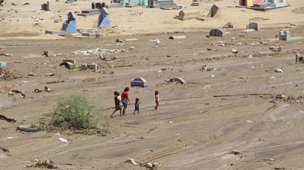 Trujillo: aguas arrastraron a cráneo de cementerio de Mampuesto