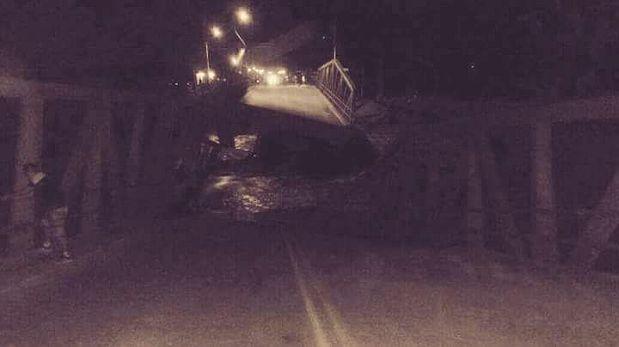 La Libertad: se desploma puente que conecta Trujillo con Lima